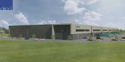 Pressemeddelelse: PostNord bygger kæmpe lagerhotel og pakketerminal i Køge